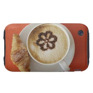 Cappuccino med choklad och en giffel, italien tough iPhone 3 fodraler