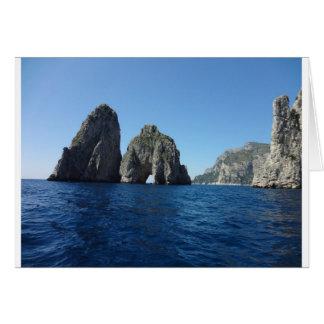 Capri Faraglion vaggar italien Hälsningskort