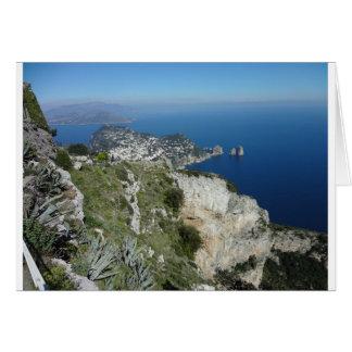 Capri Faraglion vaggar italienkicken View.JPG Hälsningskort