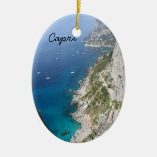 Capri italien julgransprydnad keramik