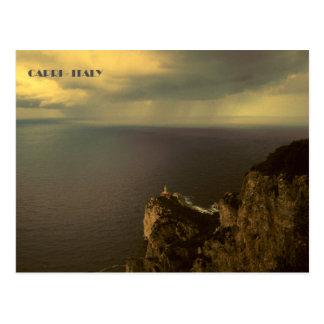 Capri - Punta Carena fyr Vykort
