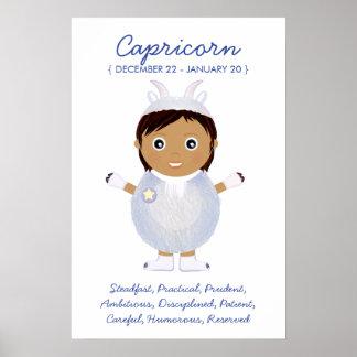 Capricorn - flickahoroskopaffisch poster