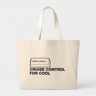 capslock - automatisk farthållare för coola tote bags