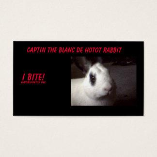 captin001 Captin Blancen De Hotot Oavbrutet tjata, Visitkort