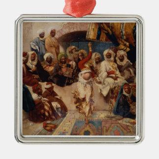 Captive åhörare, 1883 (olja på kanfas) julgransprydnad metall