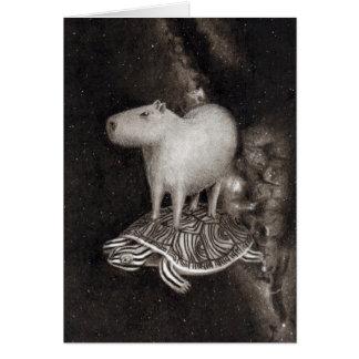 Capybara- och Terrapinflyg till och med Hälsningskort