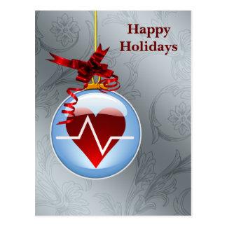 cardio helgdagskort för medicinskt yrke vykort
