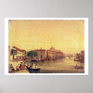 Careenagen, Bridgetown, Barbados, c.1848 Poster