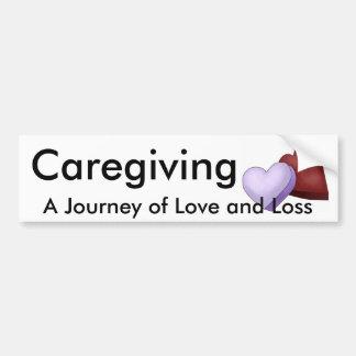 Caregiving en resa av kärlek och förlust bildekal