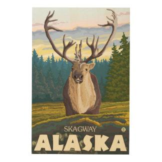 Caribou i vilden - Skagway, Alaska Trätavla