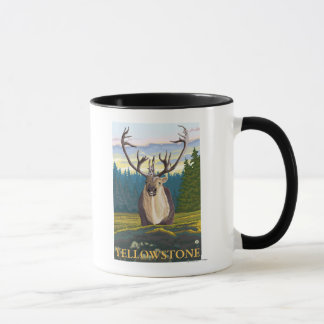 Caribou i vilden - Yellowstone medborgare Mugg
