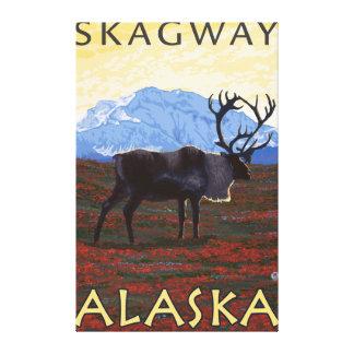 Caribouplats - Skagway, Alaska Canvastryck