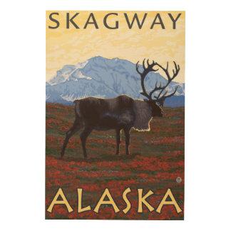 Caribouplats - Skagway, Alaska Trätavla