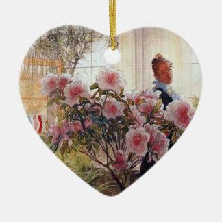 Carl Larsson - Azaleas Julgransprydnad Keramik