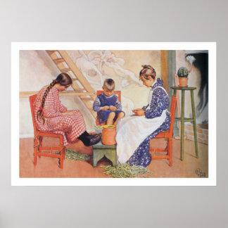 Carl Larsson besköt de ärtakonsttrycket Poster