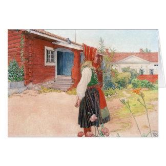 Carl Larsson det Falun hemmet Hälsningskort