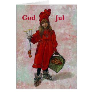 Carl Larsson jul Hälsningskort