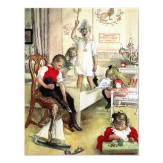 Carl Larsson julmorgon 10,8 X 14 Cm Inbjudningskort
