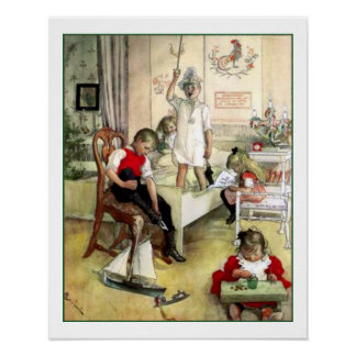 Carl Larsson julmorgon Poster