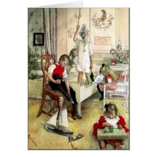 Carl Larsson julmorgon i sverige Hälsningskort