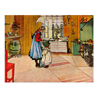 Carl Larsson konst: Kök Vykort