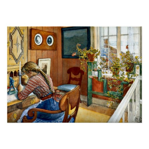 Carl Larsson konst - överensstämmelse Affisch