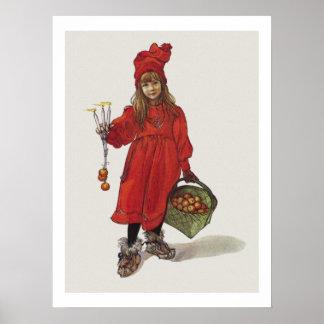 Carl Larsson lite svensk flicka Brita som Iduna Poster