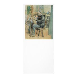 Carl Larsson målning med hans dotter Reklamkort