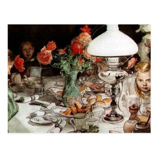 Carl Larsson - runt om lampan Vykort