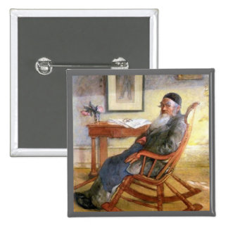 Carl Larssons far (Pader) Standard Kanpp Fyrkantig 5.1 Cm