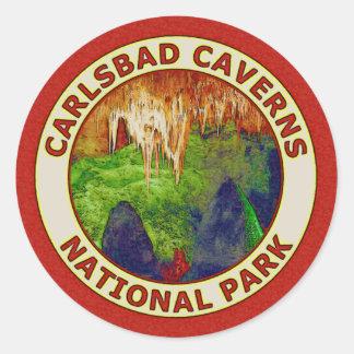 Carlsbad Cavernsnationalpark Runt Klistermärke