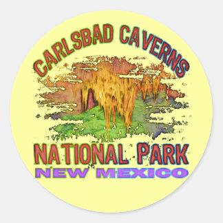 Carlsbad Cavernsnationalpark som är ny - mexico Runt Klistermärke