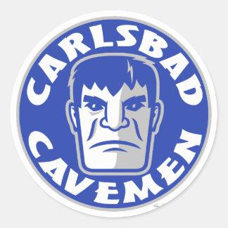 Carlsbad grottmanklistermärke runt klistermärke