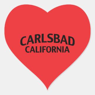 Carlsbad Kalifornien Hjärtformat Klistermärke