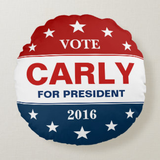 Carly Fiorina för president 2016 röstar kampanjen Rund Kudde