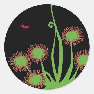 Carnivorous Sundew växt Runt Klistermärke