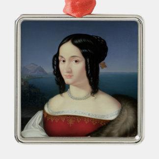 Carolina Grossi, den första frun av konstnären Julgransprydnad Metall