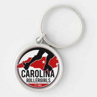 Carolina Rollergirls keychain Rund Silverfärgad Nyckelring