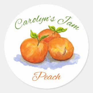 Carolyns persikasylt runda klistermärken