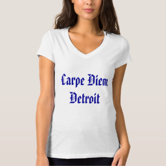 Carpe Diem Detroit kvinna vit T-shirts