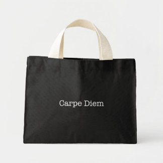 Carpe Diem griper dagcitationstecknet - citationst Mini Tygkasse