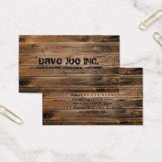 Carpentry för konstruktion för grungeladugård wood visitkort