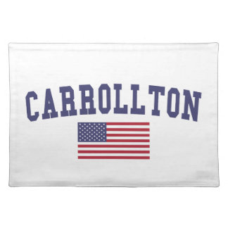 Carrollton US flagga Bordstablett