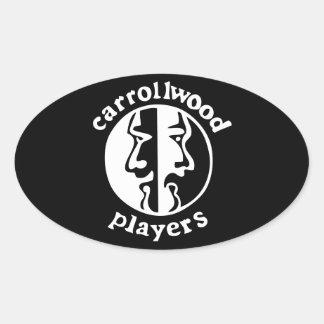 Carrollwood spelare ovalt klistermärke