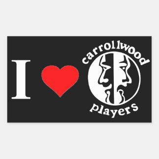 Carrollwood spelare rektangulärt klistermärke