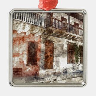 Cartagena Colombia vattenfärgkonstverk Julgransprydnad Metall