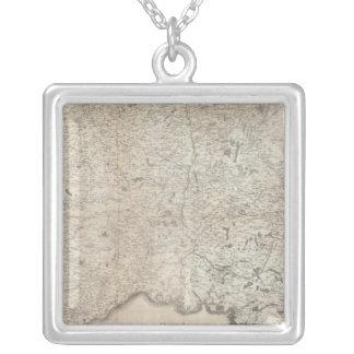 Carte de la Frankrike SE Silverpläterat Halsband