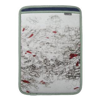 cartography på spårande papper MacBook sleeve