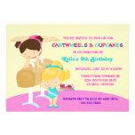 Cartwheels- och muffinsgymnastikfödelsedagsfest inbjudningar