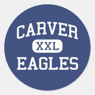 Carver örnar mellersta Fresno Kalifornien Runt Klistermärke